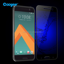 Phone accessories full cover for htc 10 glass screen protector with China blue film
