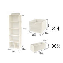 OEM, Customized Support Hanging Closet Organizer, 5-Shelf Collapsible Hanging Organizer for Clothes, Sweater & Handbags