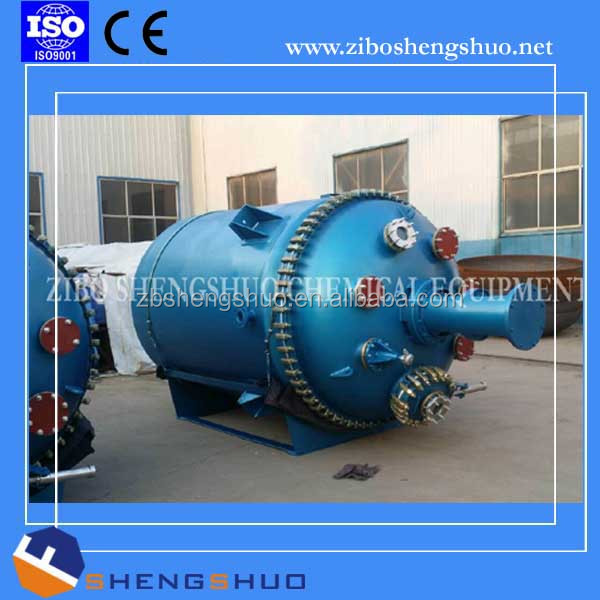 Pressure vessel double jacket glass lined reactor mixing tank by China factory