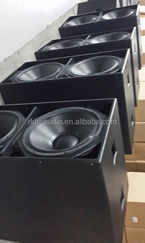 PW-218 daul 18 inch stage sound system subwoofer speaker box