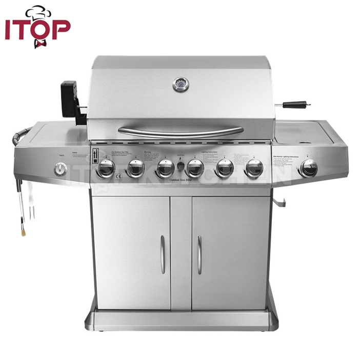 Family day Commercial gas bbq grill machine