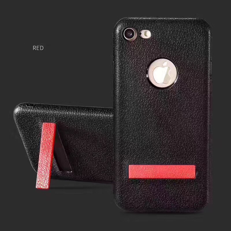 Unique Design Leather Pattern for iphone 7 case tpu kickstand
