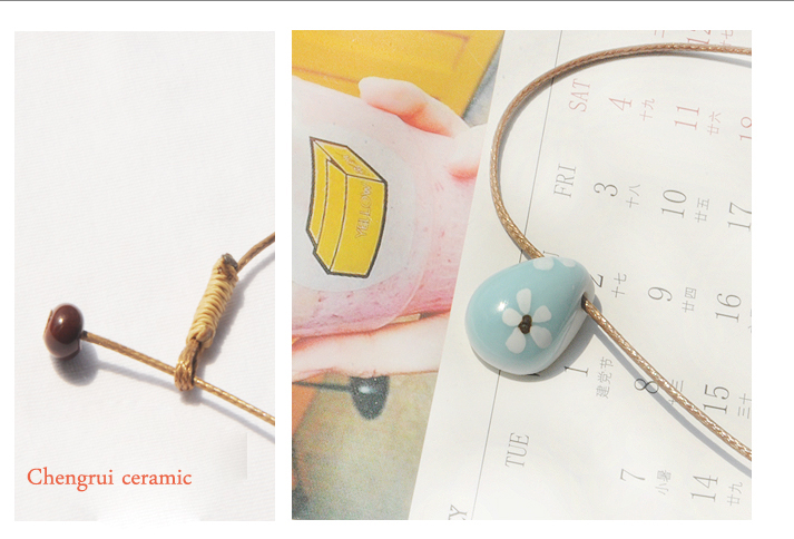 Celadon simple customed fashional design flower wood flower accessory pendant