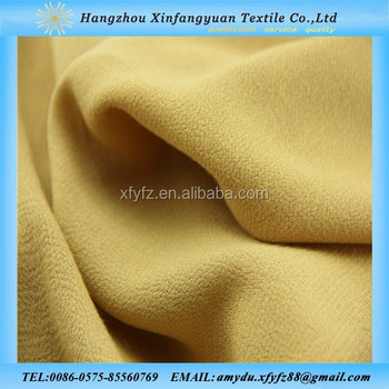 100% rayon 45s plain dyed crepe fabric
