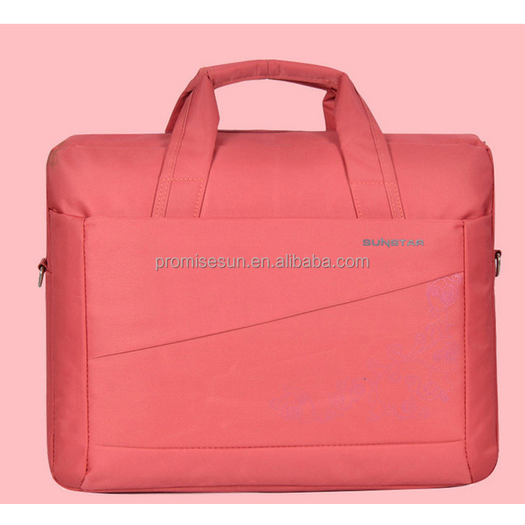 Nylon multicolor printing decorative pattern high quality durable fashioable laptop trolley bag