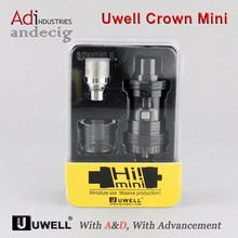 2017 Uwell Crown mini top quality 510 thread electronic cigarette upgrade adjustable airflow e cigarette ego e pen vaporizer rba