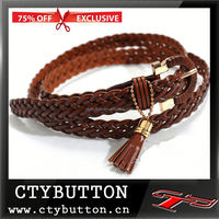 75%off Exclusive brown webbing handmade sash belt