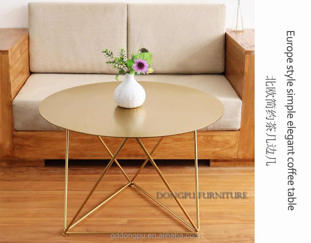 2017 latest Nordic style living room furniture polygon side tables simple coffee table round iron console table c2