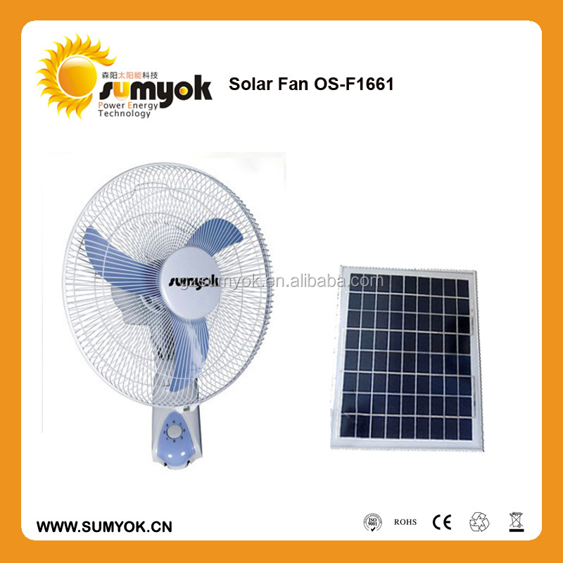 Hot sale factory Popular design solar home fans/12v dc wall fan with timer