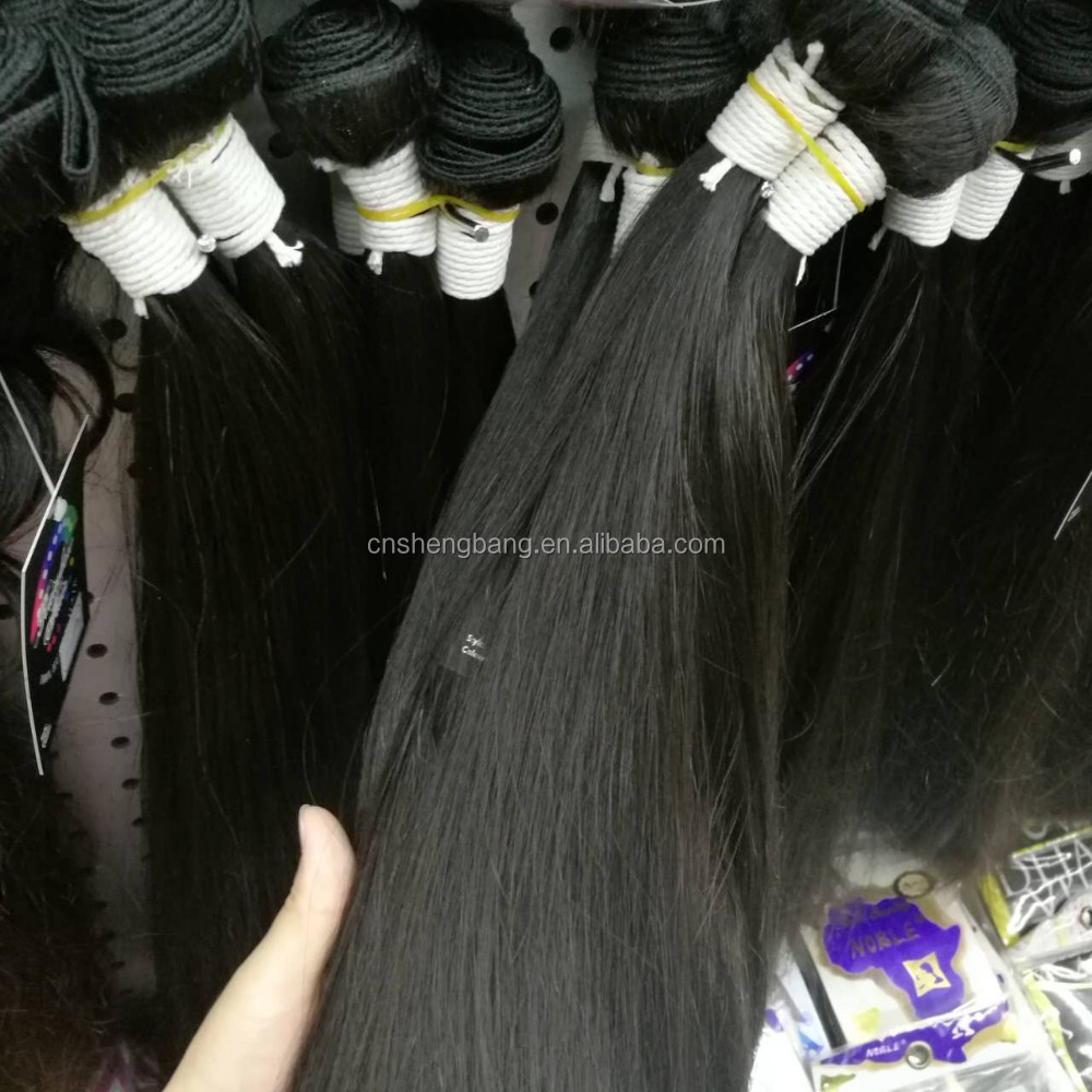 "Virgin Brazilian virgin hair 18"" natural color double drawn 10A virgin remy brazilian hair weft"