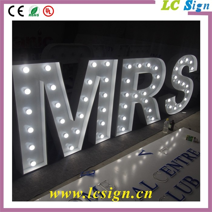 Led lighted marquee sign metal alphabet letter buy for 24 inch channel letters