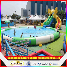 Customized inflatable pool , inflatable swimming pool for water park