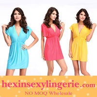 Sexy Party V-Neck Tunic Beach Dress Cover Up Swimwear