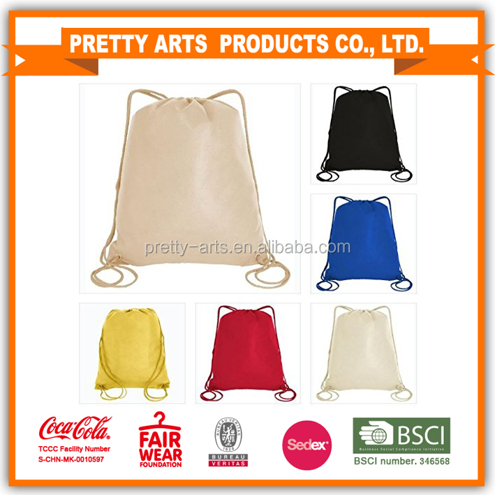 2016 Colorful drawstring resuable bags