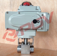 ANSI electric thread high temperature ball valve pn100
