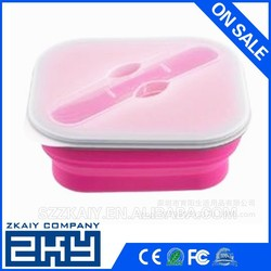 Portable food warmer silicone kids lunch box with dividers