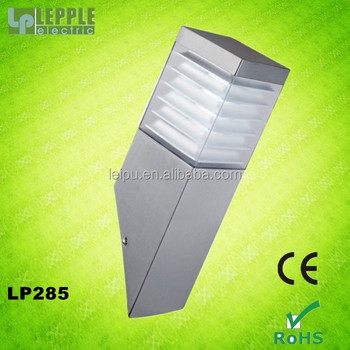 E27 socket squared new stainless steel garden wall light