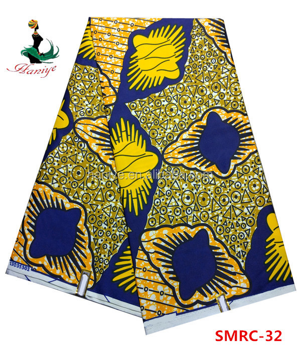 Haniye SMRC-32 best selling products and high quality 100% cotton holland wax african printed fabric for wholesale