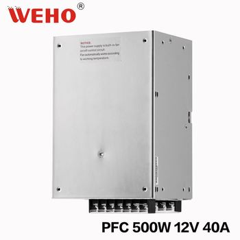 SP series CE ROHS approved 500w single output with PCF 12v 40a switching power supply