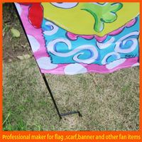 Cheap mental stand various sized burlap garden flag
