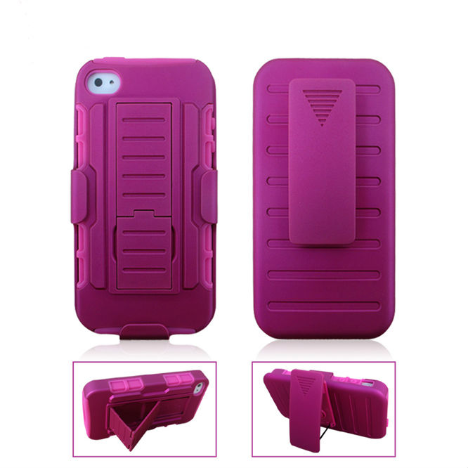 Mobile Phone Hybird Case For iPhone4 4s, 4s Hard Case Holster Belt Clip Case AT&T