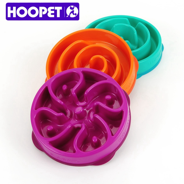 Hoopet Lucky Slow Food Dog Bowl Pet Feeder Automatic