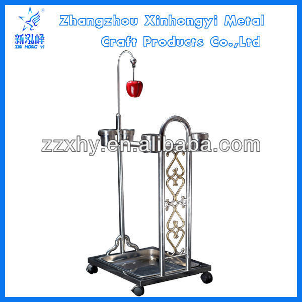 2016 Hot! Parrot Metal Bird play used Stands Macaw Play Stand With Feeders Fashion Play Stand