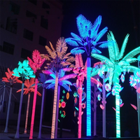 Color Changing Outdoor Led Lighted Artificial Palm Tree for Christmas Decor