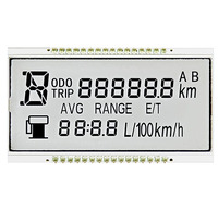 Digit segment display screen lcd module