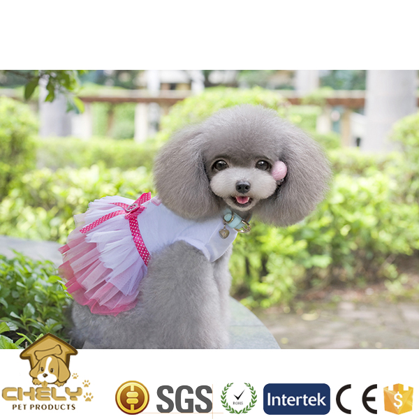 500+ models available pet clothes for dogs with nice big pink bow