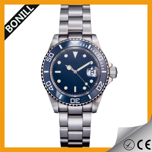 Hot selling mens watch waterproof steel watch luxury submarine watches