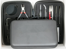 eva Tool Kit/Coil Winder, Needle Nose Pliers, Wire Cutters Straight and Curved Tweezers, Cotton Shears, Screw Drivers