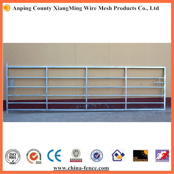 heavy duty hot dipped galvanized corral panels / metal livestock field farm fence gate for cattle