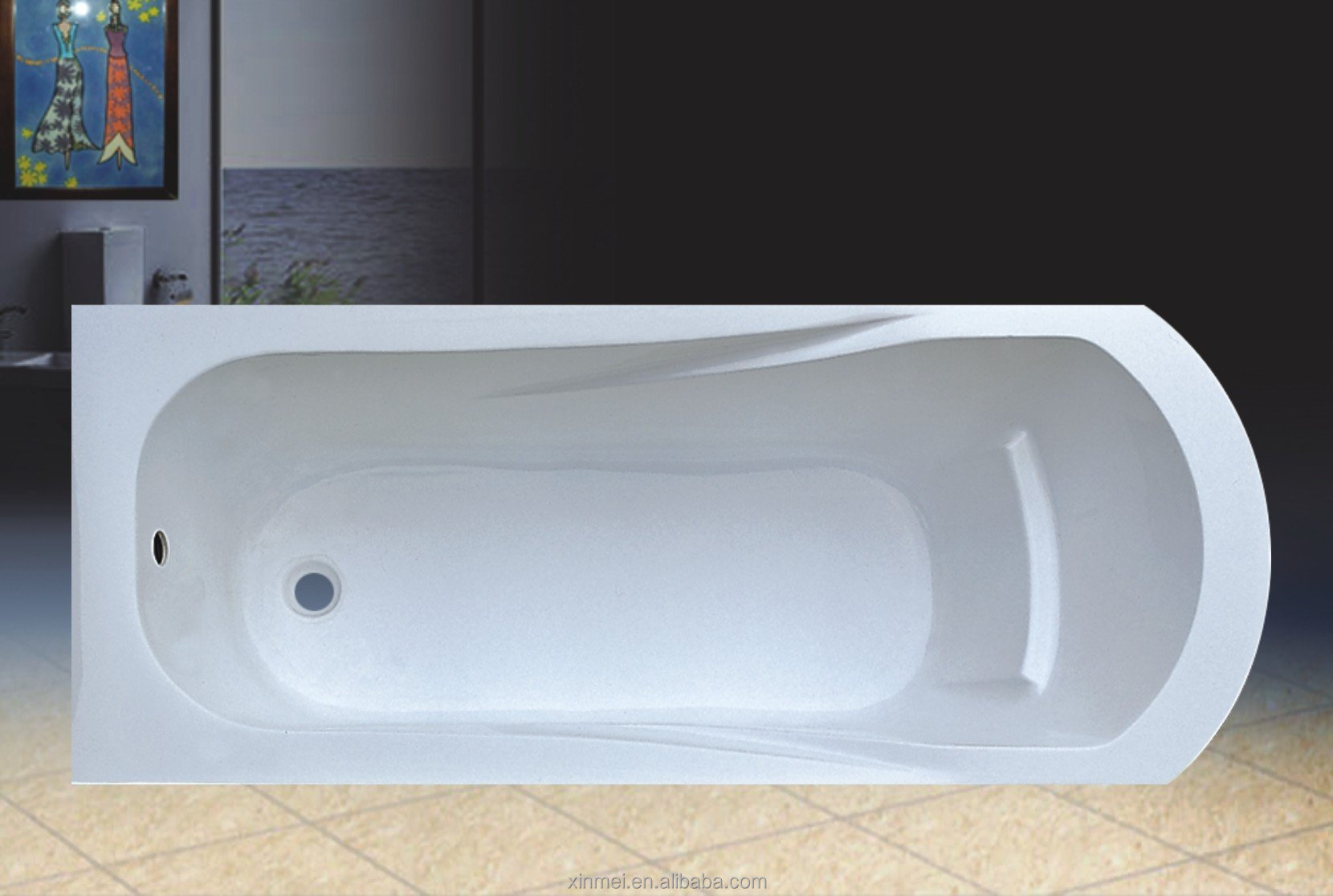Top Quality Portable Hot Tub Freestanding Bathtub Sizes Plastic Portable Bath