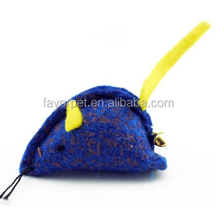 new arriving natural felt mouse cat toy with catnip