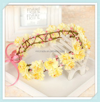 Yellow Flower Wreath Ladies DazzleHair Accessories Chinese Traditional