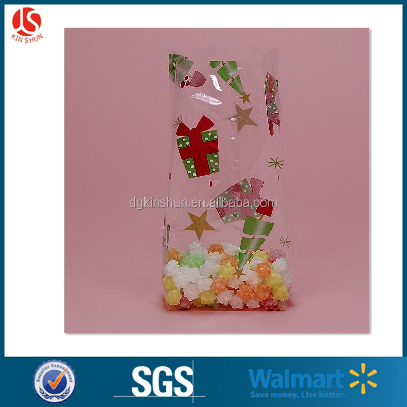 custom pringting plastic food grade PP packaging bags /clear plastic OPP candy bags