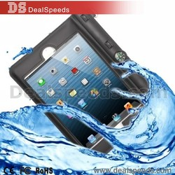 High Quality Protective Case with Compass Waterproof Bag for iPad mini 3 / 2 / 1- Black
