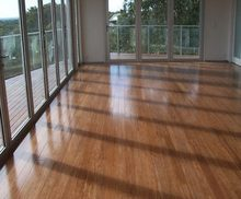 Enviromentally coffee color strand woven bamboo flooring for indoor