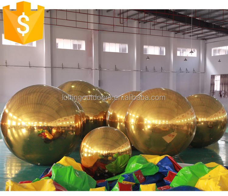 Outdoor Durable PVC Wedding Stage Christmas Decoration Large Inflatable Mirror Ball