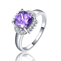 excellent quality rings jewelry purple Tanzanite 117