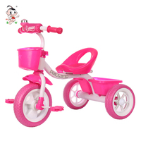 Cheap double seat children tricycle red plastic big pedal triciclo kids baby tricycle