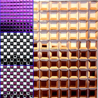 brown glass mosaic tile black modern style standerd TV background crystal