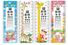 Hot Sale Kids Growth Chart Eye sight chart Wall Stickers sticker chart For Home Decor