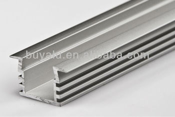 6063-T5 LED Aluminum Profile in Silver Anodized