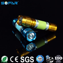 Battery powerful 1w led torches lights aluminum material mini flexible flashlights