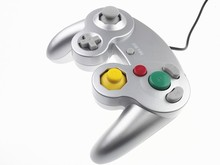Silver Classic Wired Shock Joypad Game Stick Pad Controller for Nintendo Wii Gamecube NGC