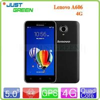 Hot selling china smartphone 5 inch 4G Lenovo A606 MT6582m quad cores android 4.4