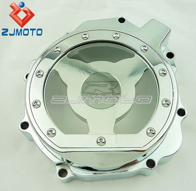 Motorcycle Chrome Window Billet Aluminum Clear Stator Engine Cover Clear Stator Cover Suitable To 2005-2008 Suzuki GSXR 1000