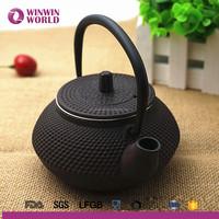 2017 Wholesale Chinese Antique 0.6L Mini Cast Iron Enamelled Teapot